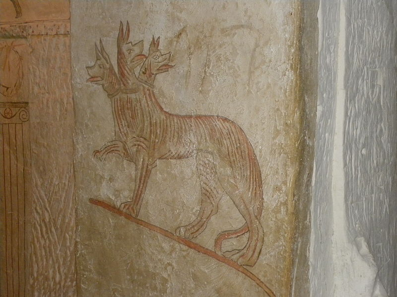 File:Hellenistic tomb paintings at Sidonian Burial Caves.jpg
