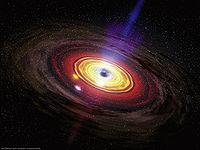 Supermassive black hole eating matter.jpg