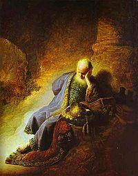 Jeremiah mourning jerusalem rembrandt.jpg