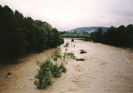 Skawa River Poland flood 2001.jpg
