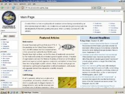 Creationwiki site screen.jpg