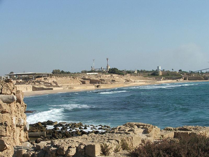 File:Harbor at Caesarea.jpg