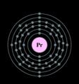 Electron shell praseodymium.png