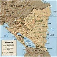 Location of Nicaragua in Central America