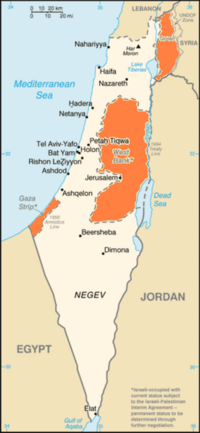 Location of Israel in the Middle East
