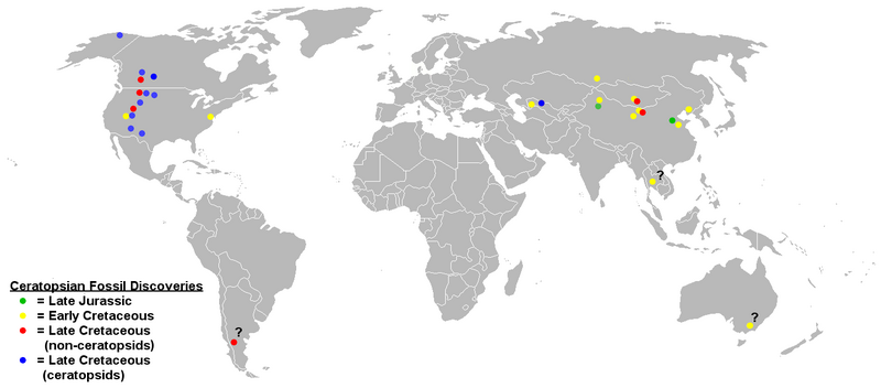 File:Ceratopsian distribution map.png