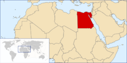 Location of Egypt within northern Africa