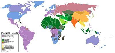 Indonesia Religion Map World Map of Religions